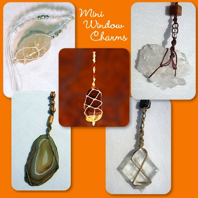 Mini window charm sun catchers